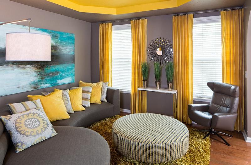Yellow And Gray Living Room Decor