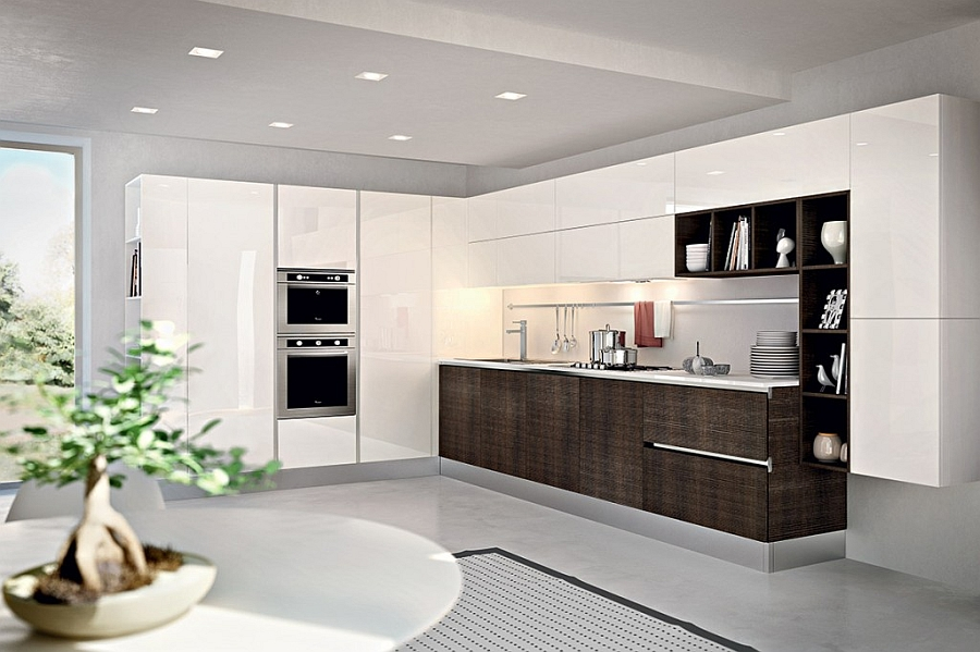 gorgeous kitchen blends sleek minimalism with a chic eco on beautiful kitchen pictures ideas houzz id=25175