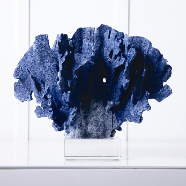 Blue coral sculpture