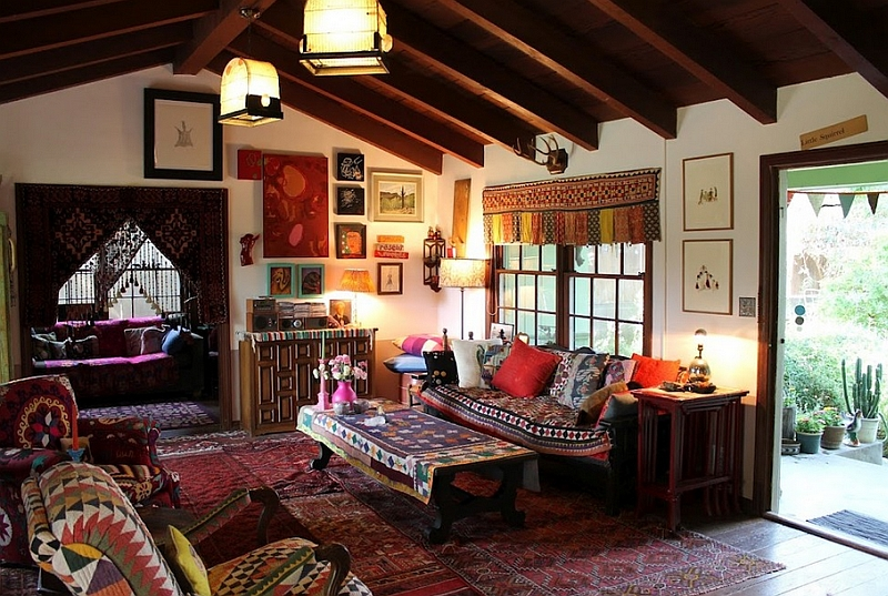 Bohemian Style Interiors, Living Rooms and Bedrooms on Bohemian Living Room Decor Ideas  id=15847