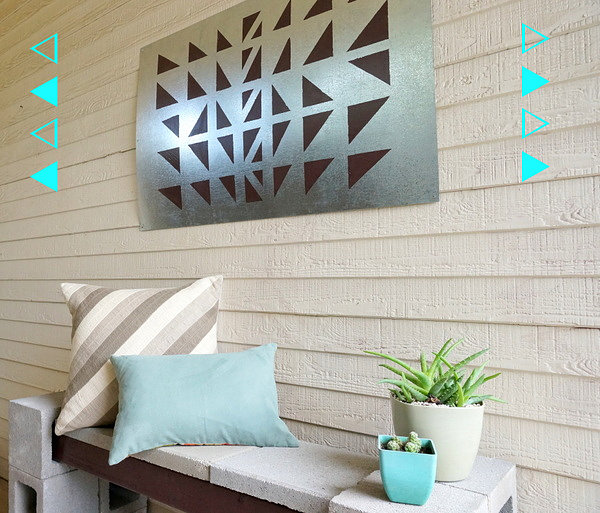 A Geo Diy Wall Art Project For The Outdoors