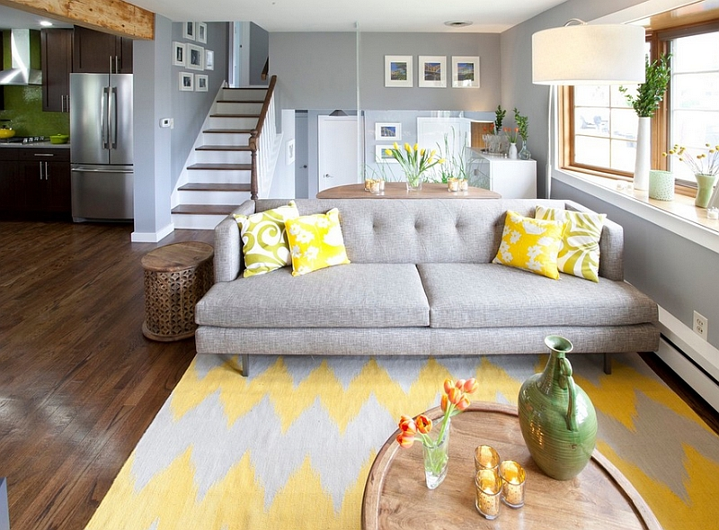 Gray And Yellow Living Rooms Photos Ideas Inspirations Part 81