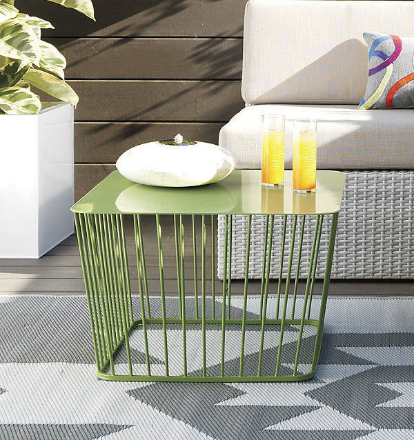Green wire coffee table