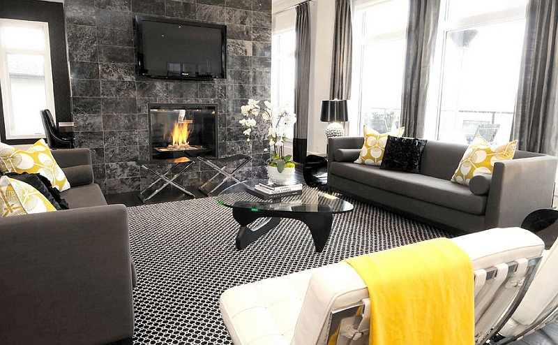 Gray And Yellow Living Rooms Photos Ideas Inspirations Part 77