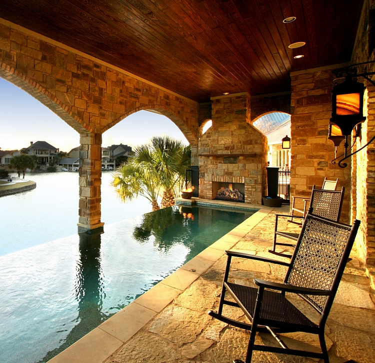 The Hottest Poolside Landscape Trends To Shape Your ... on Lakefront Patio Ideas id=44613