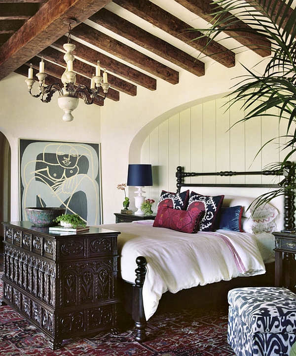 Bohemian Style Interiors, Living Rooms and Bedrooms on Modern Bohemian Bedroom Decor  id=71651