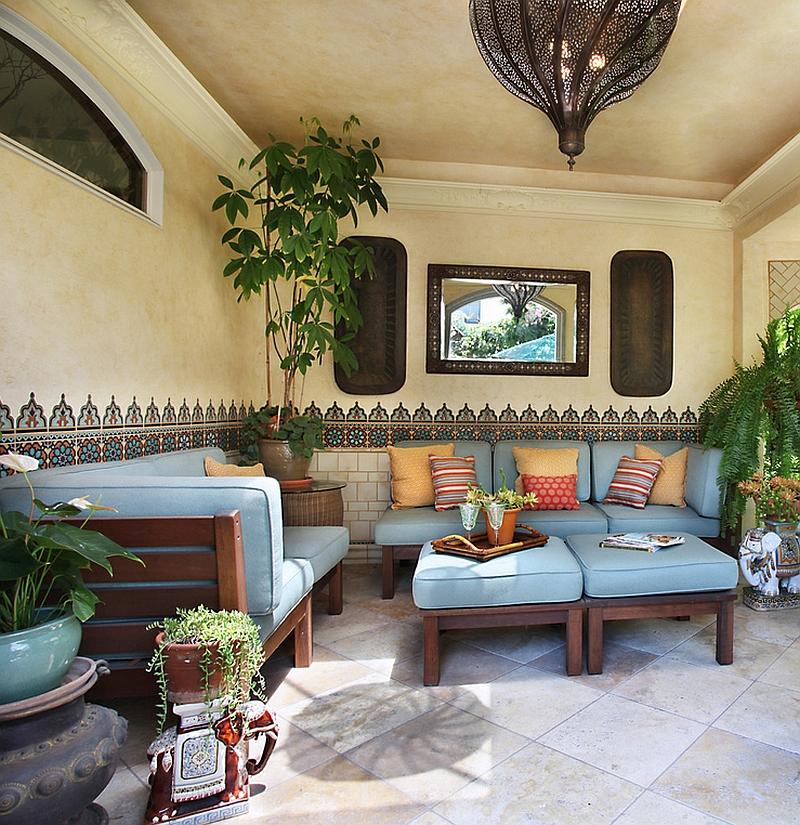 Moroccan Patios, Courtyards Ideas, Photos, Decor And ... on Moroccan Backyard Design  id=99123