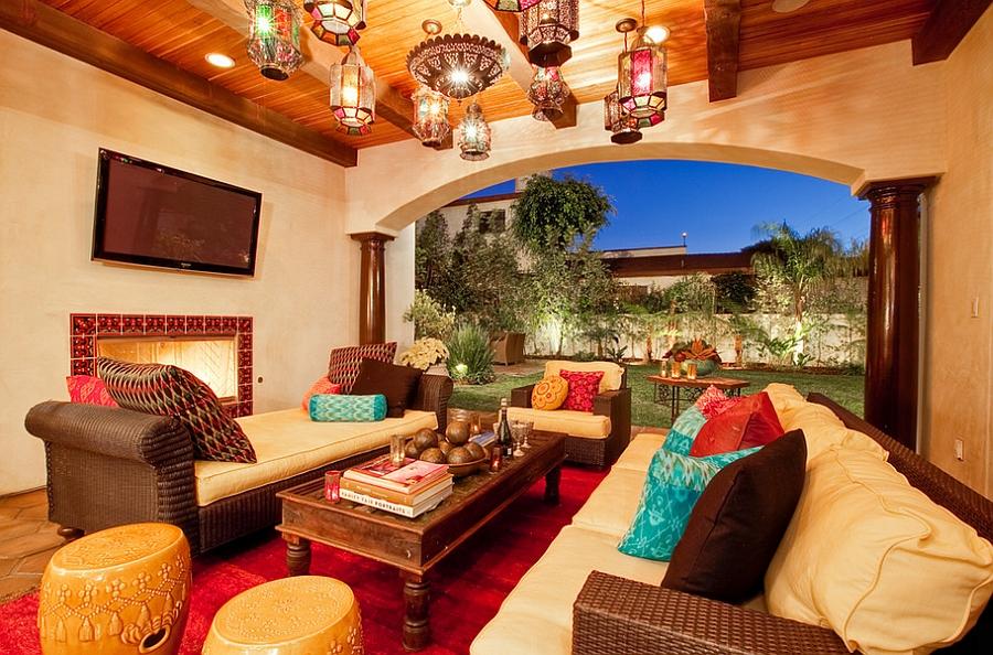 Moroccan Patios, Courtyards Ideas, Photos, Decor And ... on Moroccan Backyard Design  id=20824