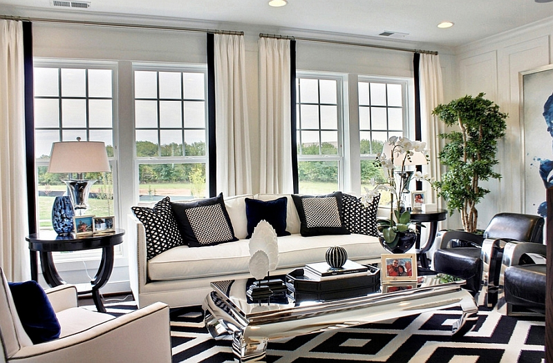 Black And White Living Rooms Design Ideas Part 48