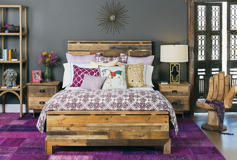 Moroccan Bedrooms Ideas  Photos  Decor And Inspirations View in gallery Bright purple of classic Moroccan design combined with  steely modern grey