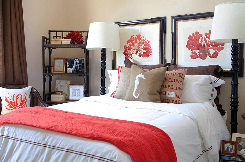 Bring in some coral hues with smart fabric accents and decor Hot Color Trends: Three Fashionable Hues That Serve You All Year Long Year Trends Three Serve Long Hues Fashionable Color