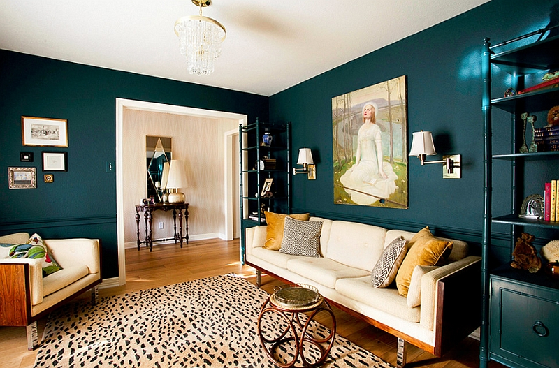 Creative combination of teal and yellow in the living room Hot Color Trends: Three Fashionable Hues That Serve You All Year Long Year Trends Three Serve Long Hues Fashionable Color
