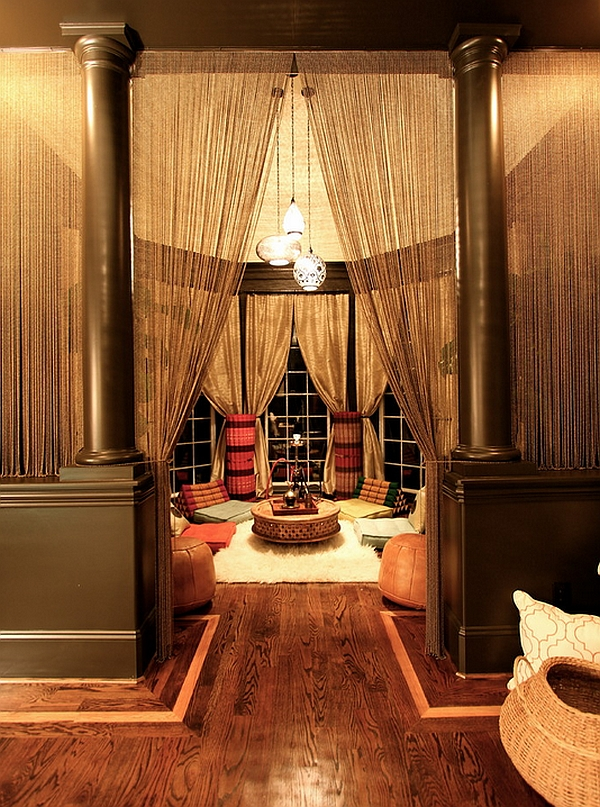 Exotic Living Room With A Moroccan Theme Offers Ample Privacy Decoist