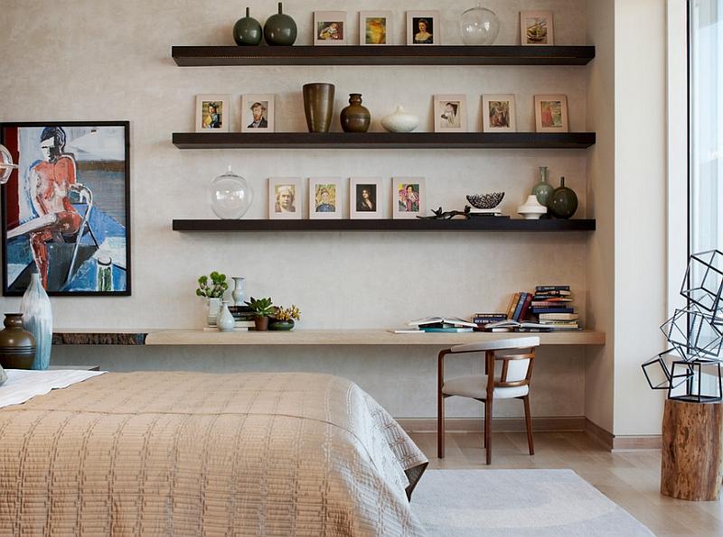 floating corner shelf design