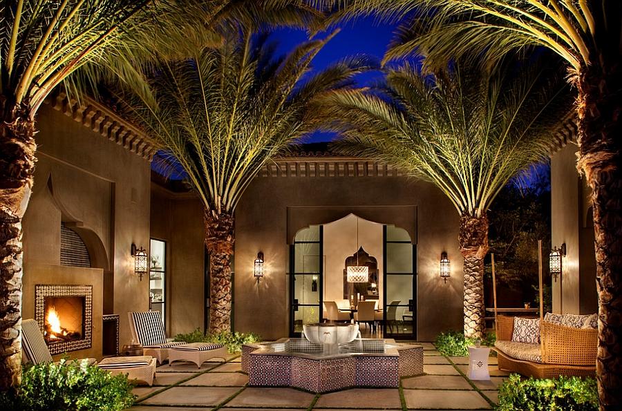 Moroccan Patios, Courtyards Ideas, Photos, Decor And ... on Moroccan Backyard Design  id=58885