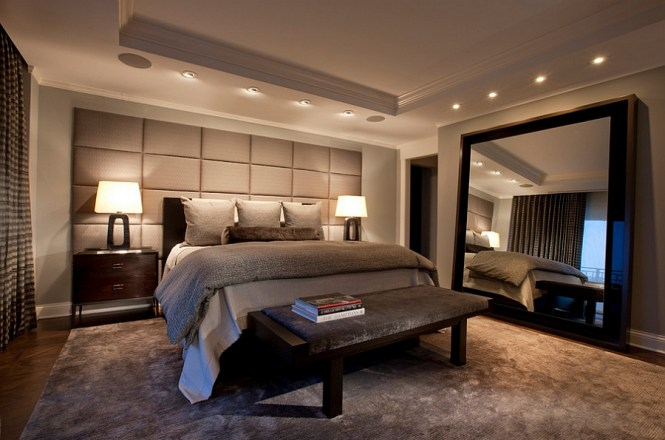 View In Gallery Mirrors Add Glamour To The Masculine Bedroom Without Giving It An Overtly Feminine Touch 50 Stunningly