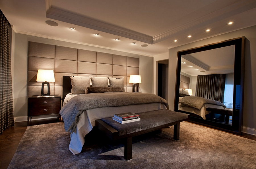Masculine Bedroom Ideas  Design Inspirations  Photos And Styles View in gallery Mirrors add glamour to the masculine bedroom without giving  it an overtly feminine touch