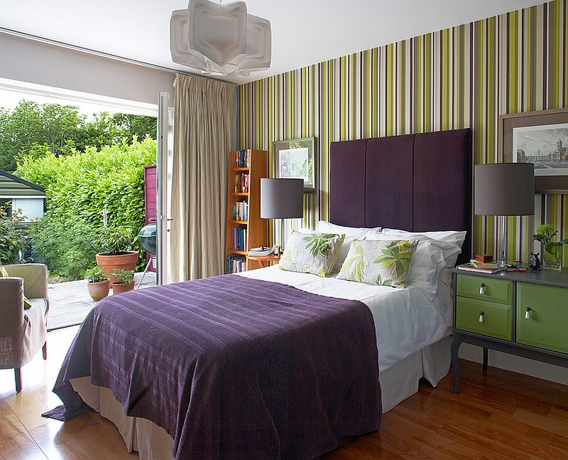 Smart color combination gives the contemporary bedroom in Dublin a refreshing serene vibe Hot Color Trends: Three Fashionable Hues That Serve You All Year Long Year Trends Three Serve Long Hues Fashionable Color
