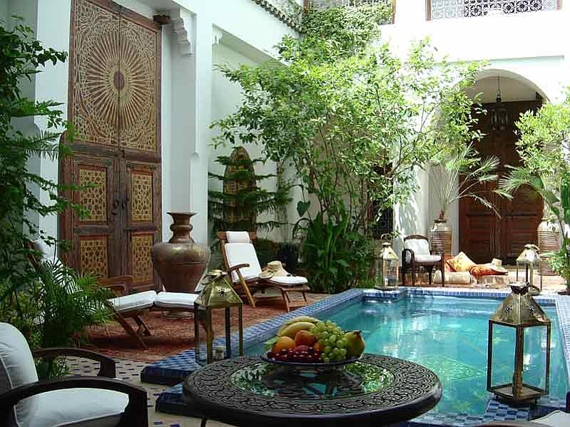Moroccan Patios, Courtyards Ideas, Photos, Decor And ... on Moroccan Backyard Design  id=78591