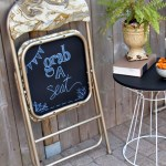 Diy Folding Chair Makeover With Chalkboard Bottoms