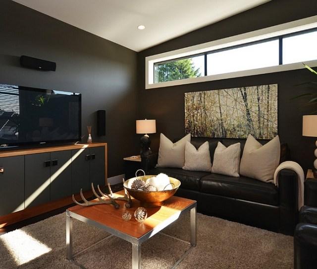Dashing Use Of Black In The Living Room By Dawna Jones Design