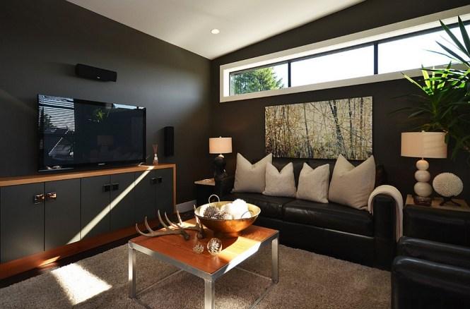 Living Room Impressive Modern Red And Black Decorating Ideas Decor