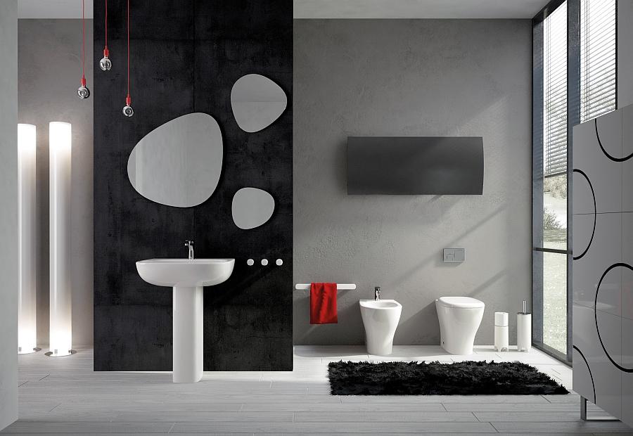 Stylish Modern Bath With An Art Deco Twist Decoist