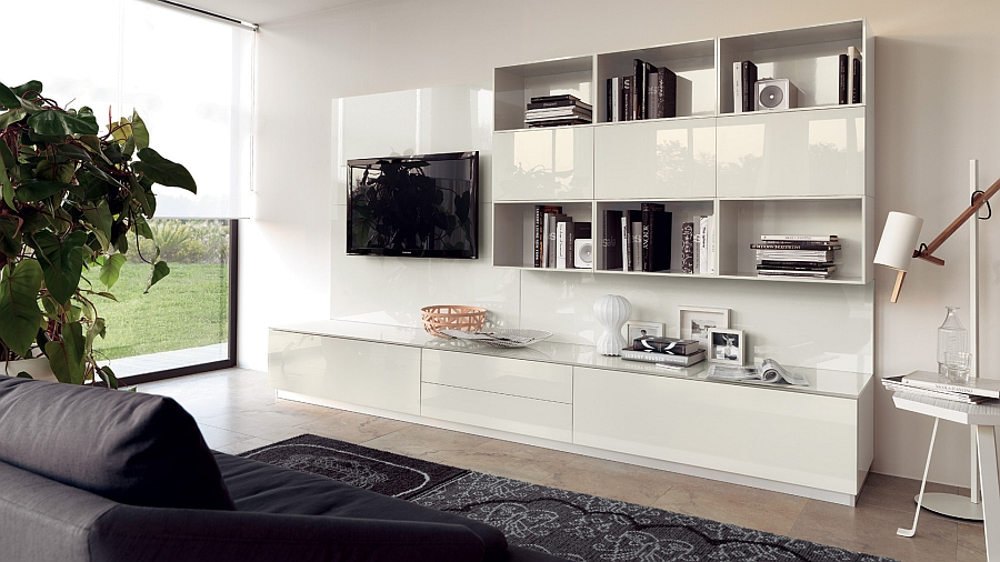20 Contemporary Compositions That Unite The Living Room ... on Living Room Wall Units id=95402