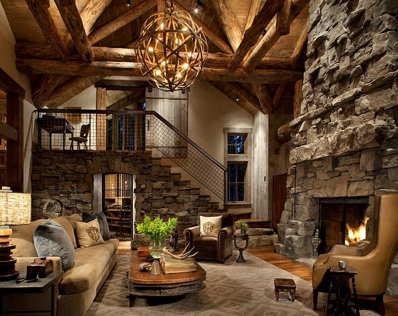 30 Rustic Living Room Ideas For A Cozy Organic Home Part 45