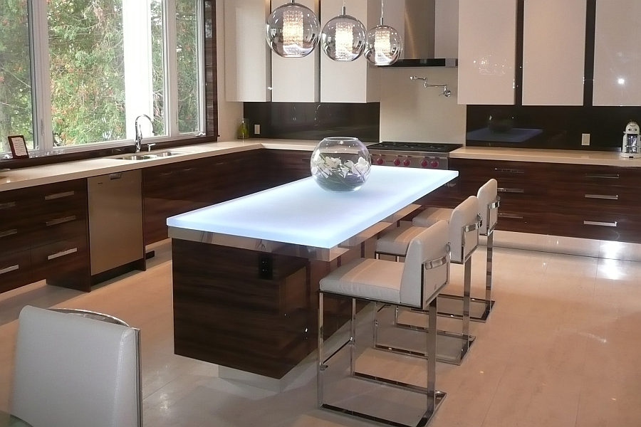 Hot Trends: Talking Glass Countertops With Vladimir ... on Modern Kitchen Counter  id=96604