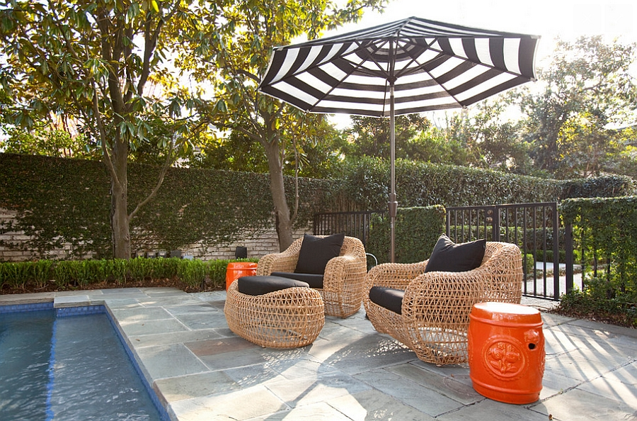 Orange and Black Interiors: Living Rooms, Bedrooms and ... on Black And White Backyard Decor  id=38359