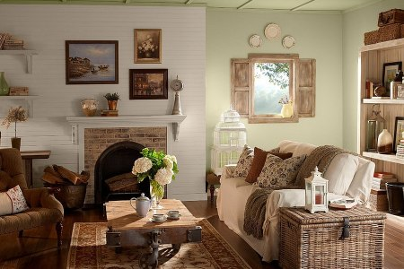 30 Rustic Living Room Ideas For A Cozy  Organic Home View in gallery Varied textures give the room an exciting look  Design   BEHR
