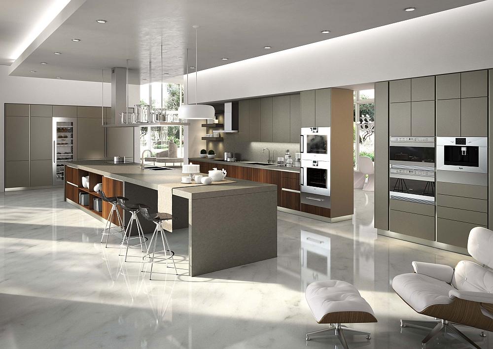 Posh Kitchen Compositions Fuse Modularity with Minimal ... on Modern Kitchen  id=16164