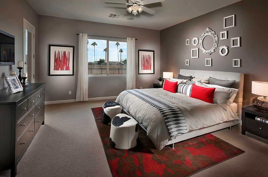 bedrooms that bring home the romance of red