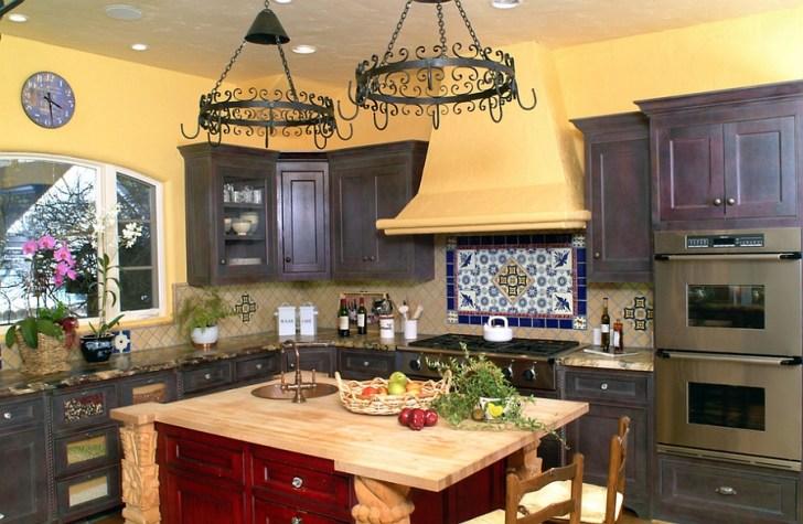 Colorful Kitchen Hint Spanish Flavor Design Nunley Custom
