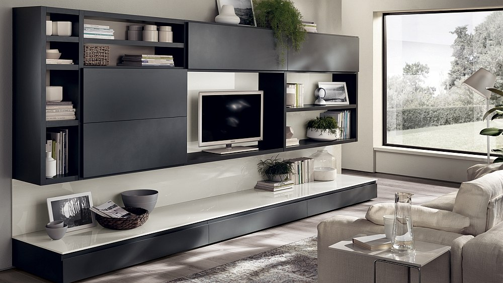 12 Dynamic Living Room Compositions with Versatile Wall ... on Living Room Wall Units id=13516