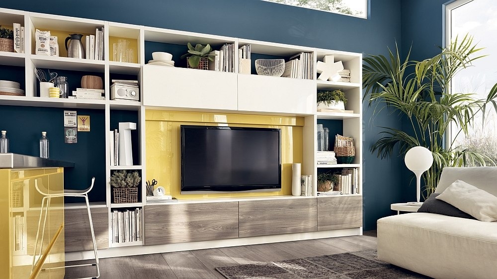 12 Dynamic Living Room Compositions with Versatile Wall ... on Living Room Wall Units id=71770