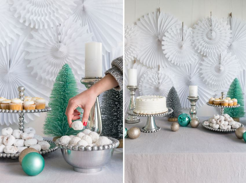 Creative Christmas Party Ideas for Design Lovers View in gallery White holiday dessert table