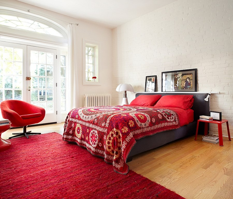 19 dashing bedrooms in red and gray