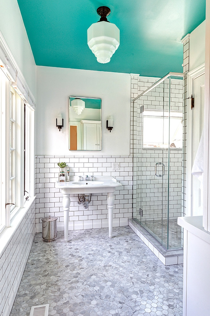 Captivating Turquoise Bathroom By Garry Mertins Pictures Gallery