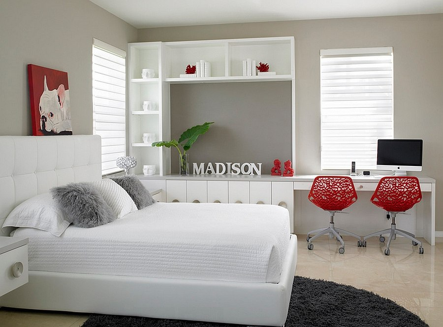 Polished Passion: 19 Dashing Bedrooms in Red and Gray! on Classy Teenage Room Decor  id=89643