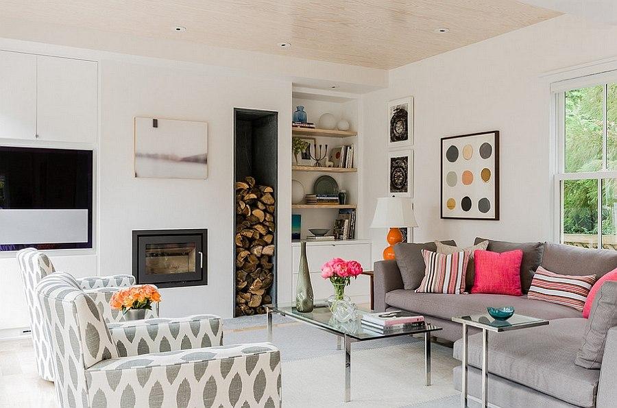 Artful Woodpile 30 Fabulous Firewood Storage Ideas Interior