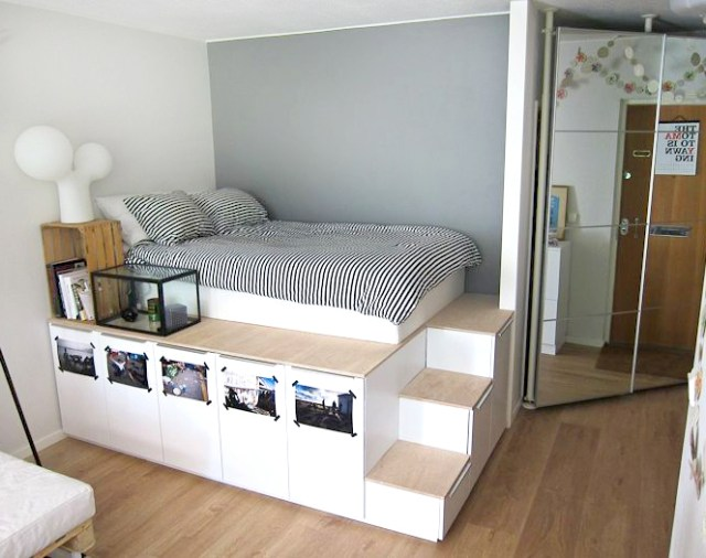 Here's a DIY storage bed tutorial that even the least handy of us ...