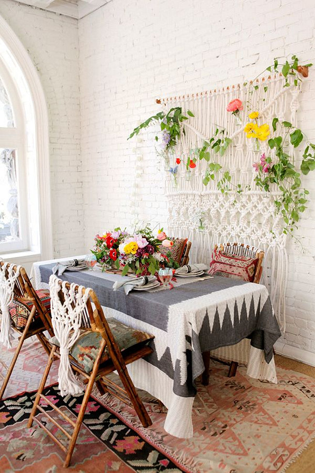 18 Eclectic Dining Rooms with Boho Style on Modern Boho Wall Decor  id=81978