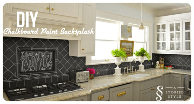 Kitchen Backsplash Ideas DIY Chalkboard Backsplash