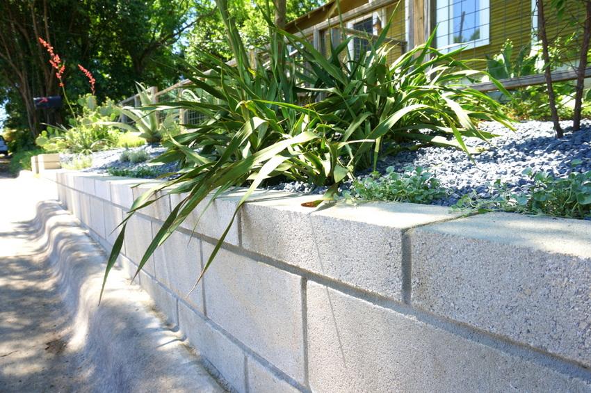 A DIY Cinder Block Retaining Wall Project on Backyard Cinder Block Wall Ideas  id=25983