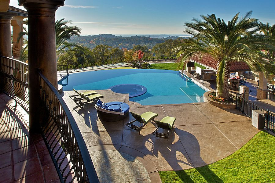 Outdoor Design Trend: 23 Fabulous Concrete Pool Deck Ideas on Pool Deck Patio Ideas  id=84360