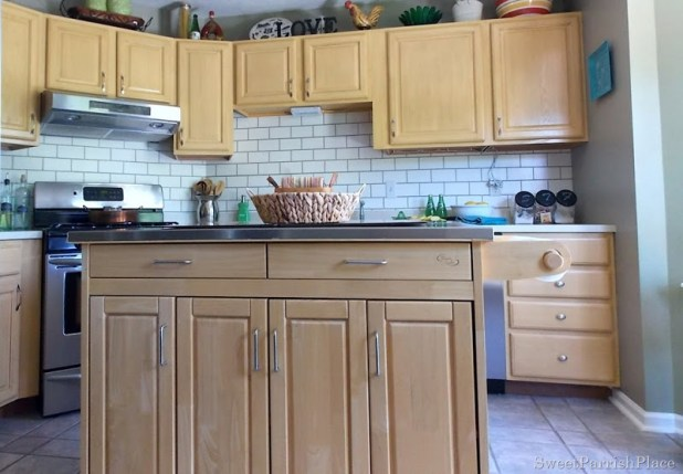 Kitchen Backsplash Ideas Faux painted subway tile kitchen