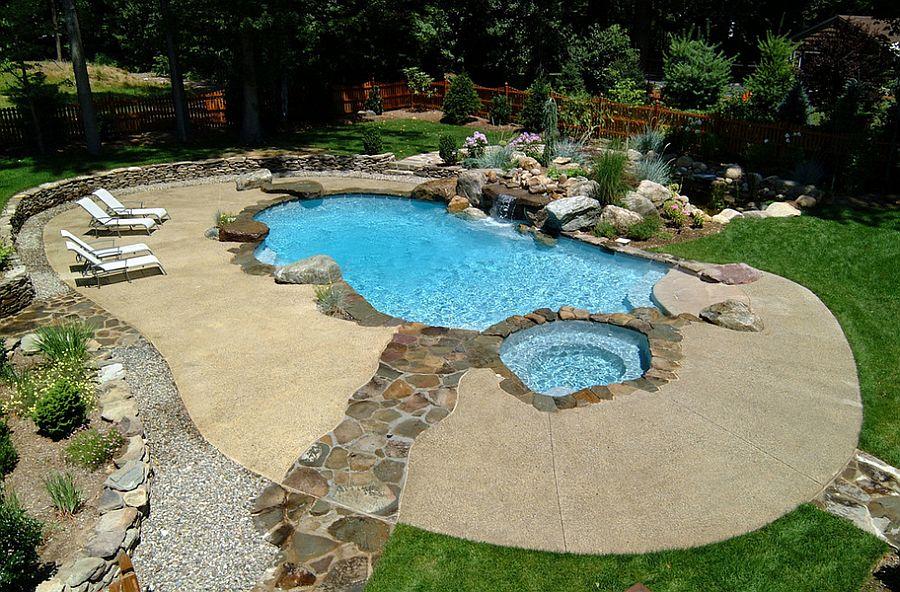 Outdoor Design Trend: 23 Fabulous Concrete Pool Deck Ideas on Pool Deck Patio Ideas  id=69051