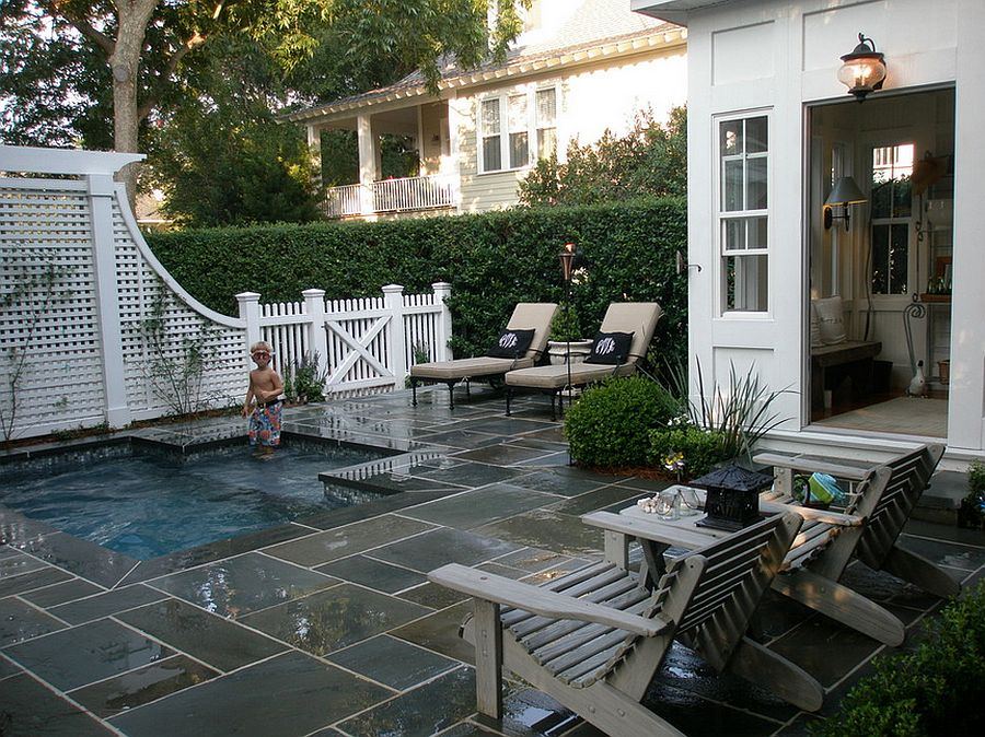 23+ Small Pool Ideas to Turn Backyards into Relaxing Retreats on Townhouse Patio Ideas  id=18332